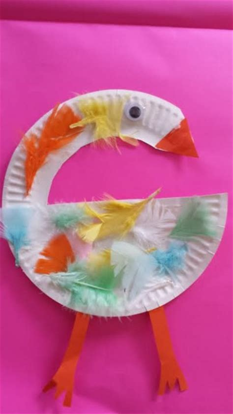 paper plate swan fun family crafts