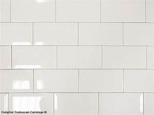 carrelage mural 10x20 metro de paris blanc mainzu With carrelage adhesif salle de bain avec tee shirt led