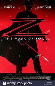 FILM POSTER THE MASK OF ZORRO (1998 Stock Photo, Royalty ...