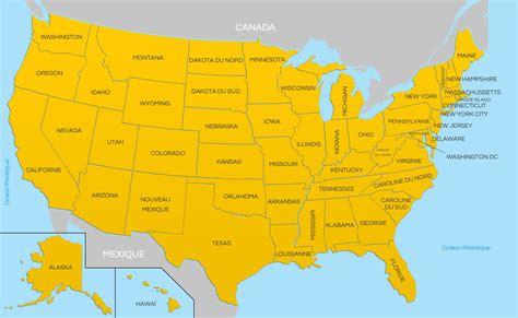 Carte Etats Unis Canada Avec Villes by Carte Des Usa Etats Unis Cartes Du Relief Villes