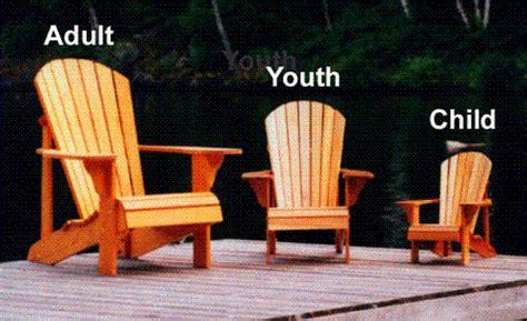 child size adirondack chair plan