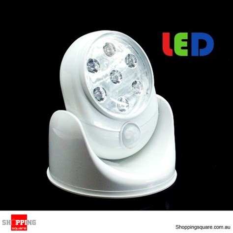 motion sensor led light up motion activated sensor stick up 7 led cordless light