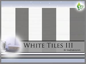 The Sims Resource: White Tiles Wall Set by Sim Fabulous
