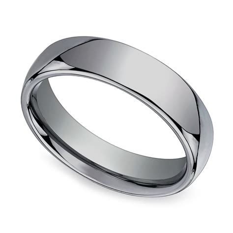 comfort fit men s wedding ring in tungsten 6mm