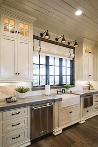 Off White Kitchen With Grey Expo Quartz Countertop Home