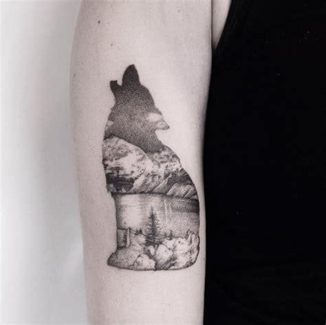 creative unique landscape animal tattoo designs