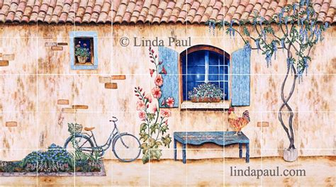 French Country Kitchen Backsplash  Tiles, Wall Murals