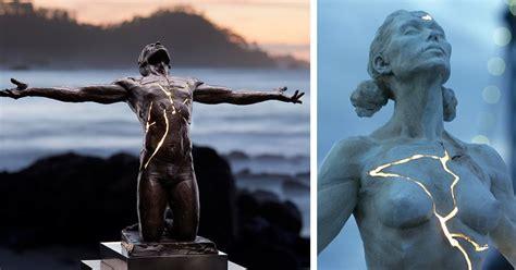 figurative bronze sculptures showcase  light