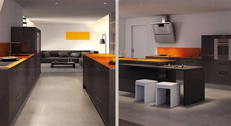 cuisine orange et gris cool peinture et gris pour cuisine la with cuisine