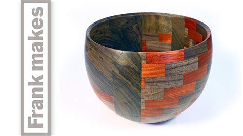 woodturning  segmented walnut bowl part  youtube