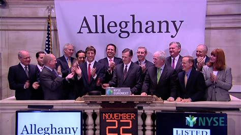 Alleghany Corporation Celebrates 85 Years of Trading - YouTube