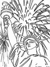 Liberty Statue Coloring Pages July 4th Fireworks Fourth Drawing Adult Sheets Independence Face Colouring Patriotic Printables Activities Flag Printable Star sketch template