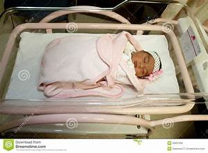 Newborn Girl In Hospital Bed Stock Photo - Image: 45031055