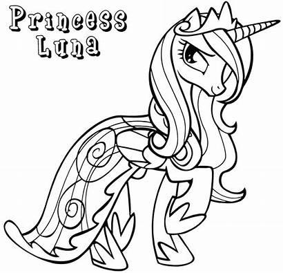 Luna Princess Coloring Pages Pony Colorings