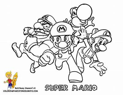 Mario Coloring Super Pages Cool Printables 64