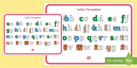 letter formation alphabet display poster letter formation