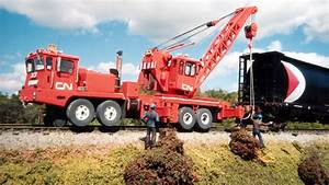Canadian National Kershaw Rct130 Ton Rail Crane