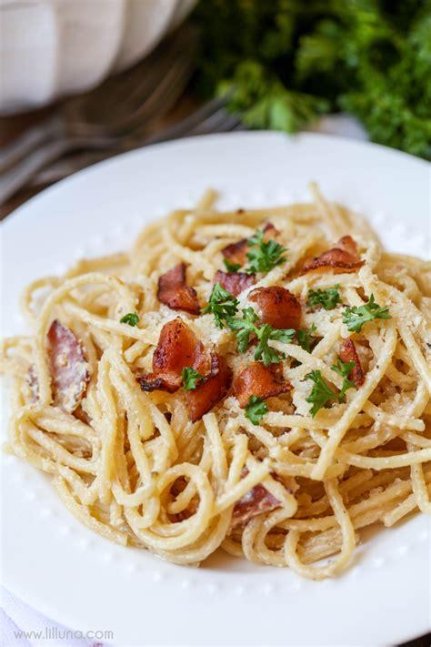 carbonara recipe spaghetti carbonara lil luna