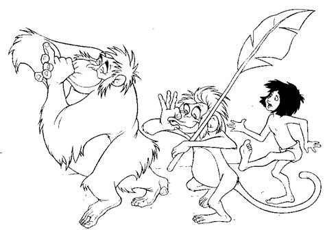 jungle book coloring pages colouring pages  adults