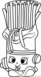 Shopkins Fasta Shopkin Coloringpages101 Breaky sketch template