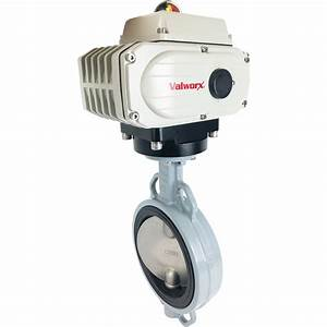 6 U2033 Electric Actuated Butterfly Valve  Wafer  Nbr  110 Vac