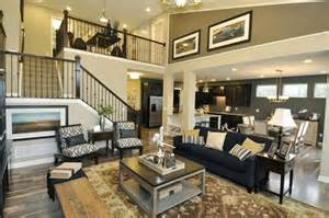 two story open floor plans a graceful open staircase frames the two story great room of the covington plan newly built