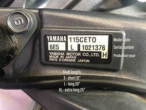 What Year Model Is My Yamaha Outboard