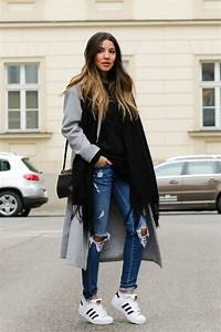 Trendy Long Overcoat with Ripped Jeans Winter Styling Ideas u2013 Designers Outfits Collection