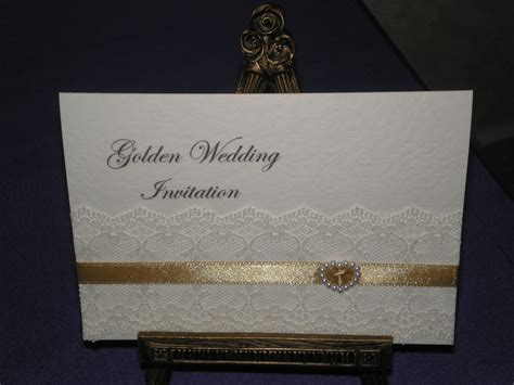 golden wedding anniversary invitation golden wedding