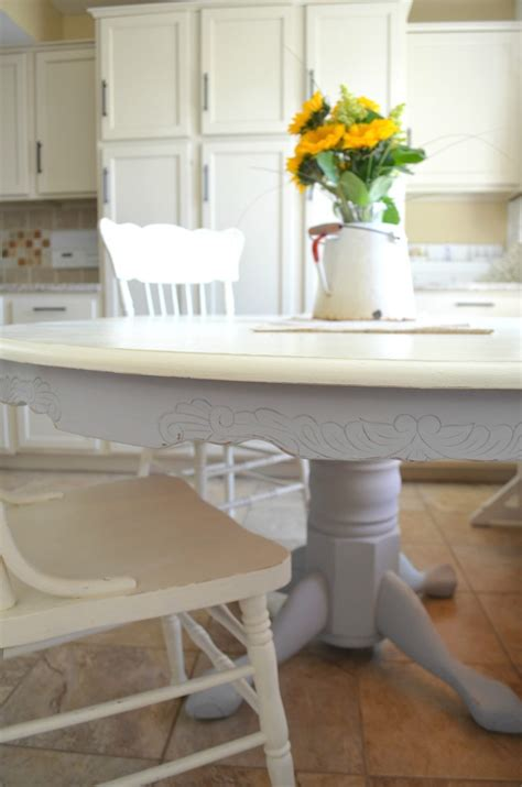 is chalk paint durable for kitchen table chalk paint dining table makeover vintage nest