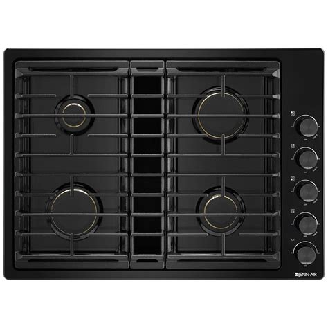 downdraft gas cooktop jgd3430gbjenn air 30 quot downdraft gas cooktop black on black