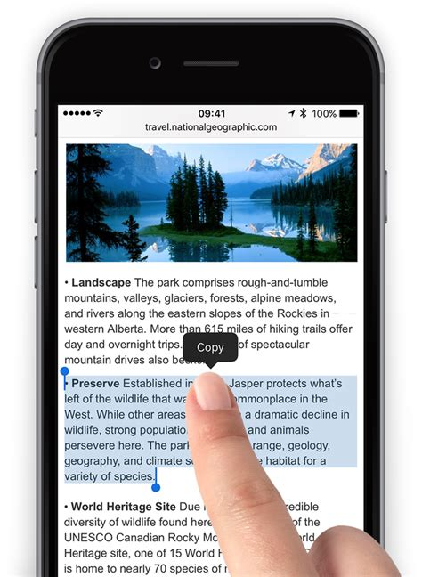 how to select all pictures on iphone guide how to select copy and paste text on the iphone