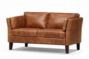 Canapé Vintage Cuir : canap scandinave vintage 1960 en cuir 2 places rose moore ~ Teatrodelosmanantiales.com Idées de Décoration