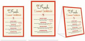 Bar Menu Template, Bar Menu Design
