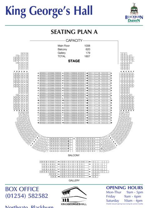 king georges hall seating plan  printable