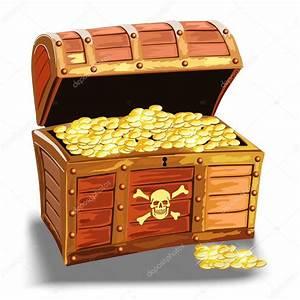 baú de madeira pirata com moedas de ouro Vetores de Stock © flint01 #98124828