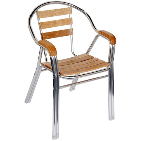 aluminum wood patio chair