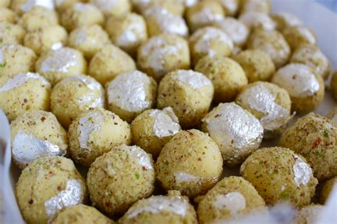 kesar pista white chocolate truffles recipe  archanas