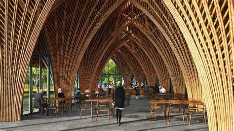 gallery  vtn architects creates airtight bamboo pavilion