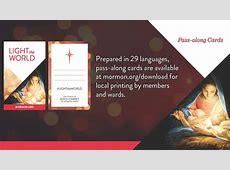 Light the World 2016 LDS Christmas Initiative, Advanced