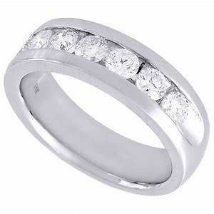 14k white gold engagement anniversary band mens diamond With mens diamond wedding rings white gold