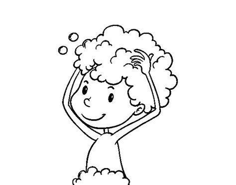 colorare i capelli a casa disegno di lavare i capelli da colorare acolore