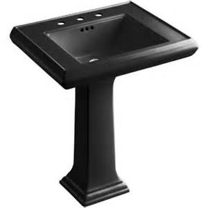 Williamsburg Pedestal Sink Home Depot by Kohler Memoirs Ceramic Pedestal Bathroom Sink In Black