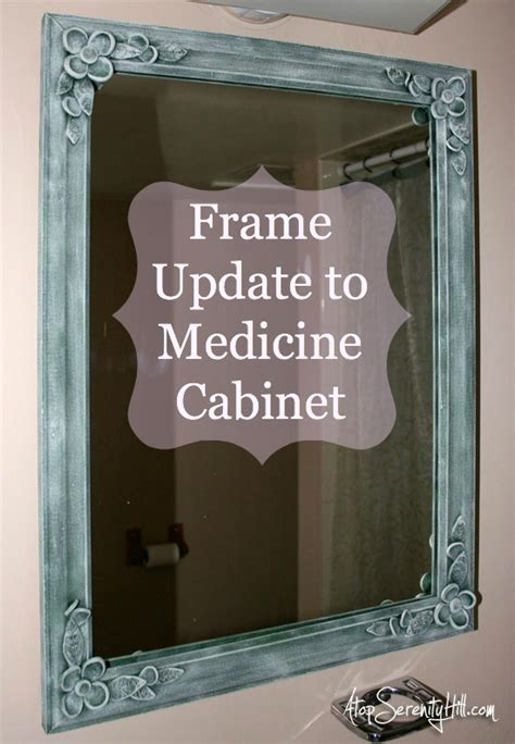 how to frame a medicine cabinet mirror frame update to medicine cabinet atop serenity hill