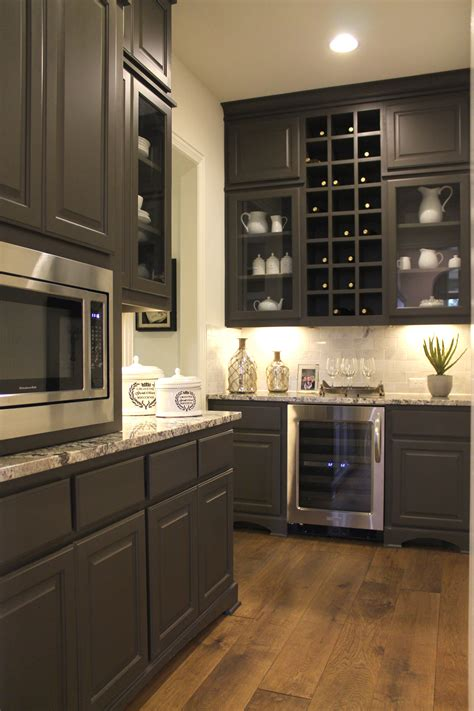 large pantry  cabinets wine storage  glass doors