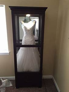 quotshadow boxquot for wedding dress get a china cabinet and With wedding dress display case