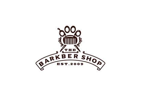The Barkbershop—Dog Grooming Logo Design – Logo Cowboy