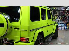 G63 AMG Gets Neon Yellow Wrap from ProFoil [Video
