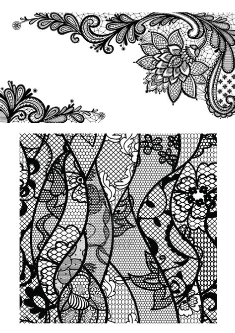 black lace pattern | Beauteous | Lace tattoo, Lace bow tattoos, Black lace tattoo