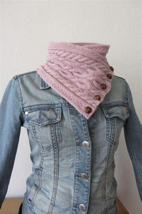 chunky knit scarf knit pattern pink chunky knit cowl scarf neckwarmer
